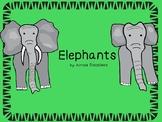 Elephant Mini-Book with Comprehension, Main Idea, Grammar,