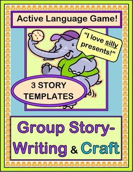 """Elephant's Birthday Party!"" - Writing a Group Story with a Game & Craft"