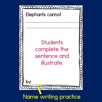 Elephants Cannot Class Book with Sight Words