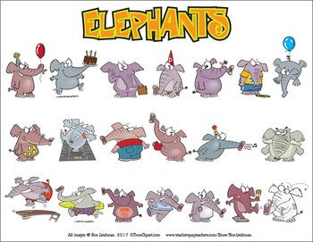 Elephants Cartoon Clipart