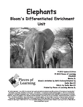 Elephants - Differentiated Blooms Enrichment Unit