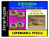 Elephants - Expandable & Editable Strip Puzzle w/ Multiple