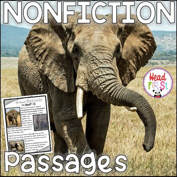 Elephants Nonfiction Guided Reading Comprehension and Fluency Passages
