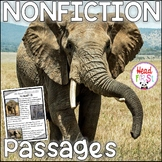 Elephants Nonfiction Guided Reading Passages