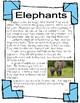 Elephants Informational Mini-Unit: Nonfiction text, research, graphic organizers