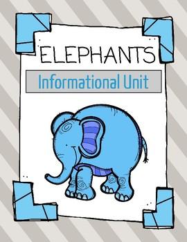 Elephants Informational Mini-Unit: Nonfiction text, resear