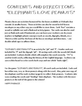 Elephants Love Peanuts - Phonics Box f/ph
