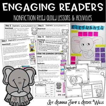 Elephants Nonfiction Reading Comprehension Unit