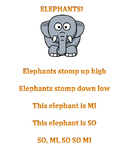 Elephants! So Mi lesson for K-1