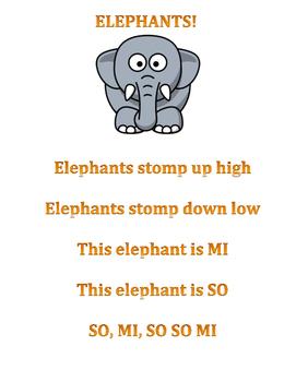 Elephants! So Mi lesson for K-1