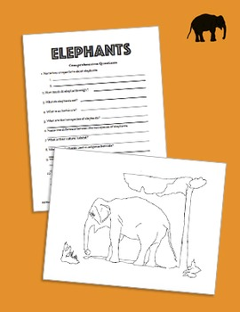 Elephants: Two Levels Informational Texts & Comprehension Questions