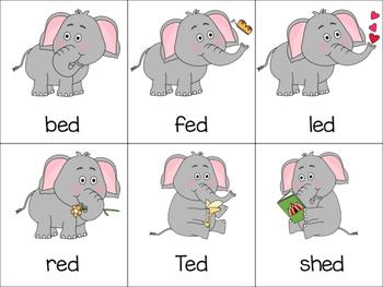 Elephants Under the Bigtop Short E Word Sort