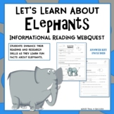 Elephants Adaptations Webquest Reading Research Activity Common Core