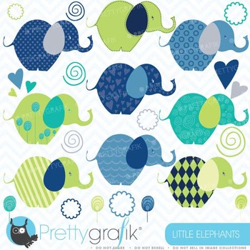 Elephants clipart commercial use, vector graphics, digital clip art - CL386