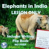 Elephants in India - Lesson Only- Culture, Conservation, No Prep Writing Booklet