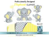 Elephany yellow gray neutral clipart