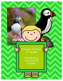 Pearson Elevate Science Florida 3rd Grade Vocabulary Crosswords (All 5 Units)