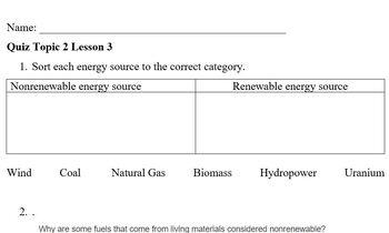 Elevate Science Grade 4 Topic 2 Lesson 3 Quiz
