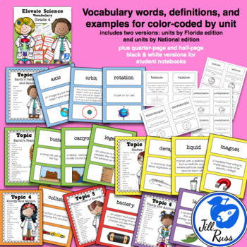 Elevate Science Vocabulary 4th Grade