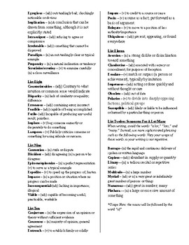 Elevated Word List - Improve Vocab Sophisitication
