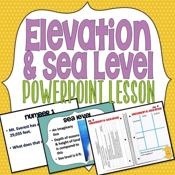 Elevation & Sea Level PowerPoint Lesson