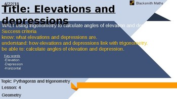 Elevations and depressions