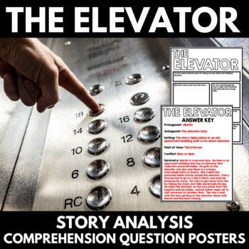 Elevator by William Sleator Short Story Unit with Questions and Project