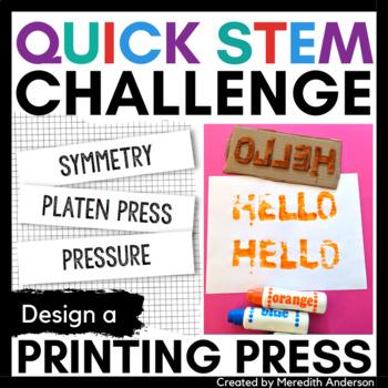 STEM Activity - Printing Press STEM Challenge