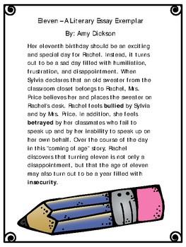 Literary Essay Exemplar - Eleven