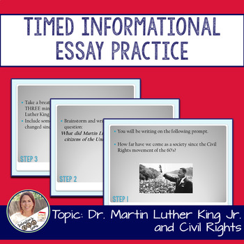 STAAR English I 11 Minute Essay Expository Practice- Martin Luther King Jr.