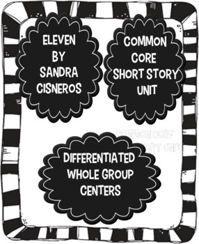 Eleven, Sandra Cisneros, Short Story Unit and Bundle