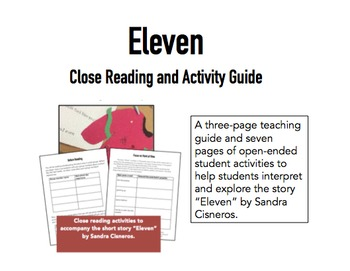 Eleven by Sandra Cisneros Close Reading Guide