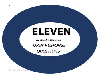 Eleven by Sandra Cisneros ( Comprehension Questions and Answer Key)