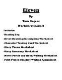 Eleven by Tom Rogers Worksheet Packet