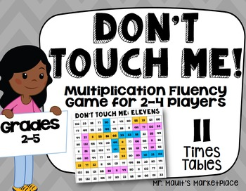 Elevens Times Tables: Don't Touch Me! Multiplication Fact Fluency Game