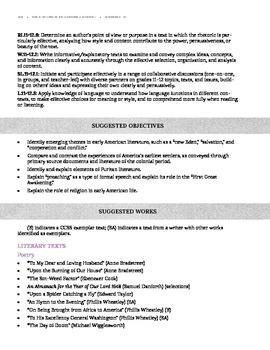 Eleventh (11th) Grade Common Core Curriculum Maps in English Language Arts