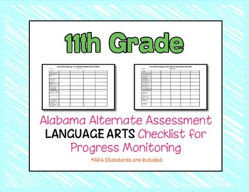 Eleventh Grade AAA Language Arts Checklist Progress Monitoring