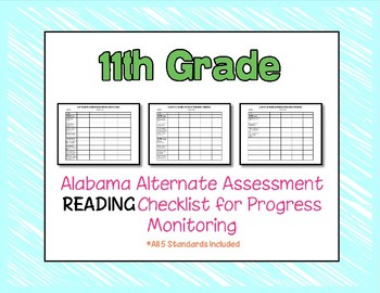 Eleventh Grade AAA Reading Checklist Progress Monitoring