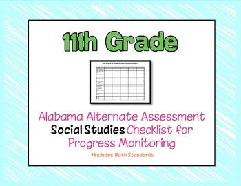 Eleventh Grade AAA Social Studies Checklist Progress Monitoring