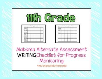 Eleventh Grade AAA Writing Checklist Progress Monitoring