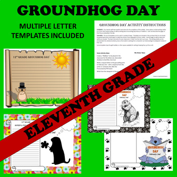 11th Eleventh Grade Groundhog Day Writing Activities