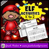 Christmas Worksheets (Elf Activities for Kindergarten, 1st and 2nd Grade)