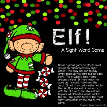 Elf! A Sight Word Game