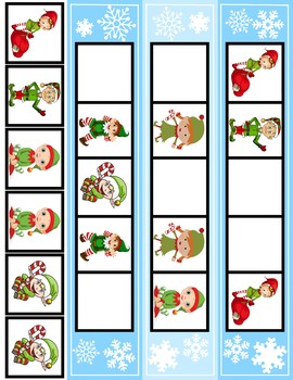 Elf ABA Pattern Cards | 12 Cards