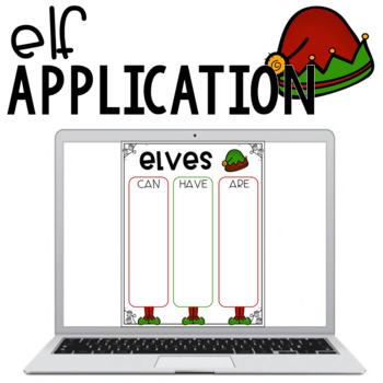 Elf Application {A Writing and Craft Activity}