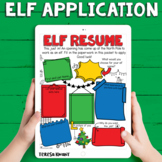 Elf Application Christmas Activity Packet