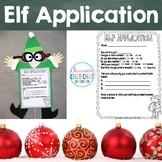 Elf Application Craftivity - Christmas Writing and Craft