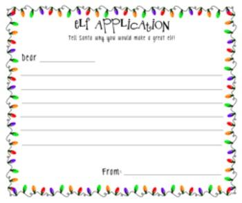 Elf Application {Dear Santa...}