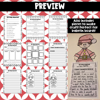Elf Application Writing Activity (includes craft!)