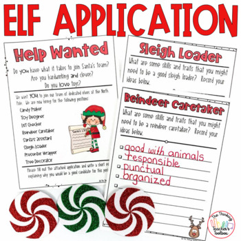Elf Application Writing Common Core Aligned 2nd and 3rd Grade